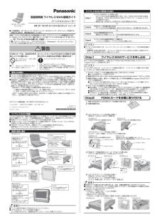 CF-H2 (パナソニック) の取扱説明書・マニュアル
