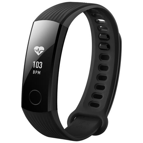 """Huawei Honor Band 3 Smart Wristband 0.91"""" PMOLED Screen Heart Rate Monitor Push Message Compatible with iOS Android - Black"""