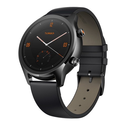 TicWatch C2 Smartwatch Wear OS by Google 1.3 Inch AMOLED Screen IP68 Built-in GPS Fitness Tracker Google Pay Mobvoi - Black
