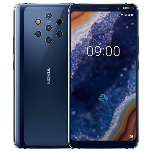 Nokia 9 PureView 5.99 Inch 4G LTE Smartphone Snapdragon 845 6GB 128GB 12.0MP+12.0MP+12.0MP+12.0MP+12.0MP Penta-Lens Camera Android 9 Type-C In-display Fingerprint - Blue