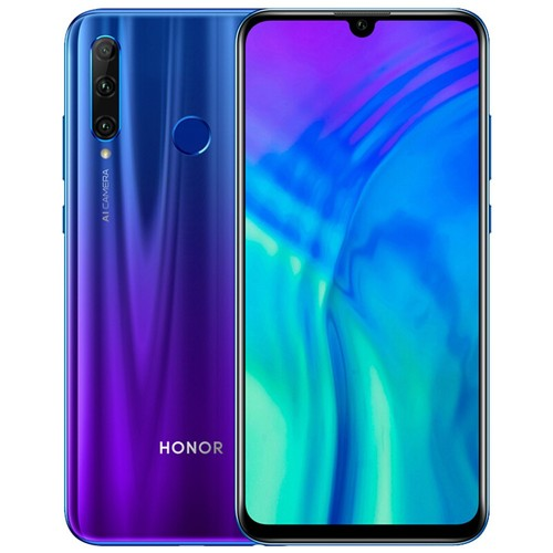 Huawei Honor 20i 6.21 Inch 4G LTE Smartphone Kirin 710 6GB 256GB 24.0MP + 8.0MP + 2.0MP Triple Rear Cameras Android 9 Touch ID - Blue