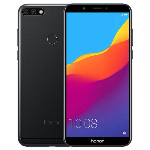 Huawei Honor 7C 5.99 Inch 4G LTE Smartphone Snapdragon 450 4GB 64GB 13.0MP+2.0MP Dual Rear Cameras Android 8.0 Touch ID Global ROM - Black