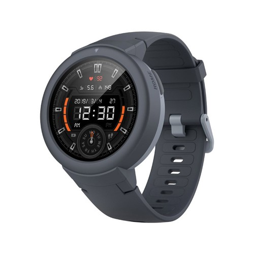 AMAZFIT Xiaomi Huami Verge Lite Smartwatch 20 Days Battery Life 1.3 Inch AMOLED Screen Built-in GPS Heart Rate Monitor Global Version - Deep Gray