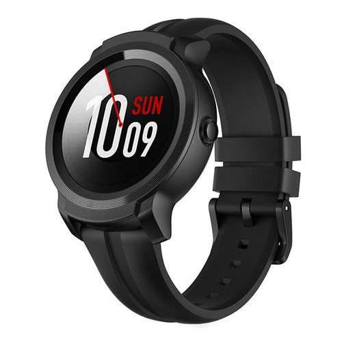 """Ticwatch E2 Sports Smartwatch Wear OS by Google 1.39"""" AMOLED Display 5ATM Water Resistant Built-in GPS 24/7 Hours Heart Rate Monitor - Black"""