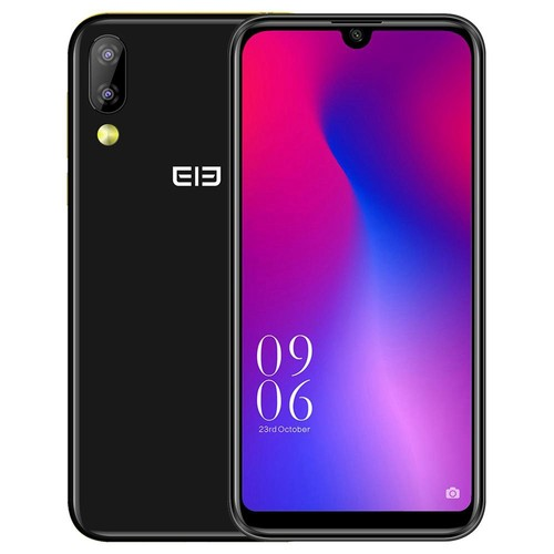 Elephone A6 Mini 5.71 Inch 4G LTE Smartphone MT6761 4GB 32GB 16.0MP+2.0MP Dual Rear Cameras Android 9.0 Face ID Fast Charge - Black