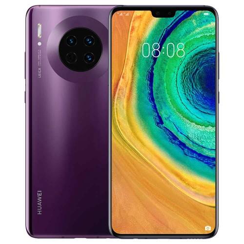 HUAWEI Mate 30 6.62 Inch 5G LTE Smartphone Kirin 990 8GB 256GB 40.0MP+16.0MP+8.0MP Triple Leica Rear Cameras NFC Fingerprint ID Dual SIM Android 10.0 - Cosmic Purple