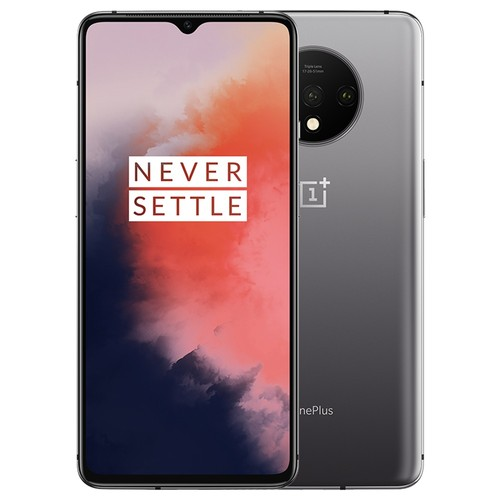 OnePlus 7T 6.55 Inch 4G LTE Smartphone Snapdragon 855 Plus 8GB 128GB 48.0MP+12.0MP+16.0MP Triple Rear Cameras Oxygen OS In-display Fingerprint Face Unlock NFC Global ROM - Frosted Silver