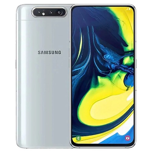 Samsung Galaxy A80 CN Version 4G Smartphone 6.7 Inch Snapdragon 730G 8GB 128GB 48.0MP+8.0MP+3D Depth Camera Triple Rear Cameras NFC Fingerprint ID Dual SIM Android 9.0 - Sliver