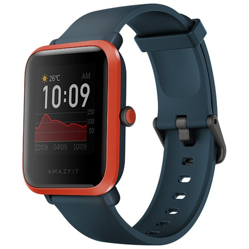 Huami Amazfit Bip S Smartwatch Heart Rate 1.28 Inch Transflective Color TFT Touch Screen 5ATM Water Resistant 40 Days Standby GPS + Glonass Positioning Support Multi-language - Black