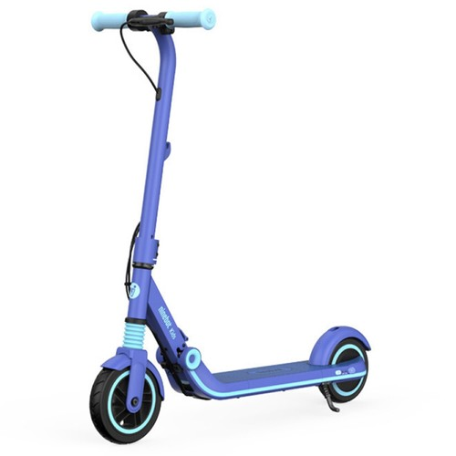 Ninebot Segway Kickscooter Zing E8 Folding Electric Scooter for Kids 130W Motor 14km/h Max Speed 2550mAh/55.08Wh Battery BMS aluminum alloy Frame BMS TPR Handlebar up to 10KM Range - Blue
