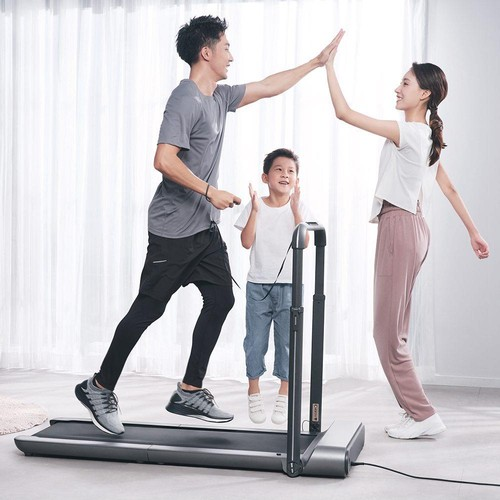 KingSmith WalkingPad R1 Pro Treadmill 2 in 1 Smart Folding Walking and Running Machine APP Foot Step Speed Control Outdoor Indoor Fitness Exercise Gym Alternative EU Version From Xiaomi Ecosystem - Silver