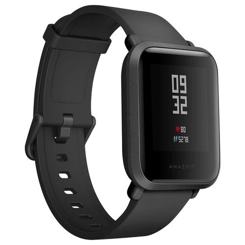 Xiaomi Huami Amazfit Bip Smartwatch with All-Day Heart Rate and Activity Tracking, Sleep Monitoring, GPS, 45 Days Ultra-Long Battery Life, Bluetooth, IP68 Waterproof -Used Excellent Condition 99% New (Black)