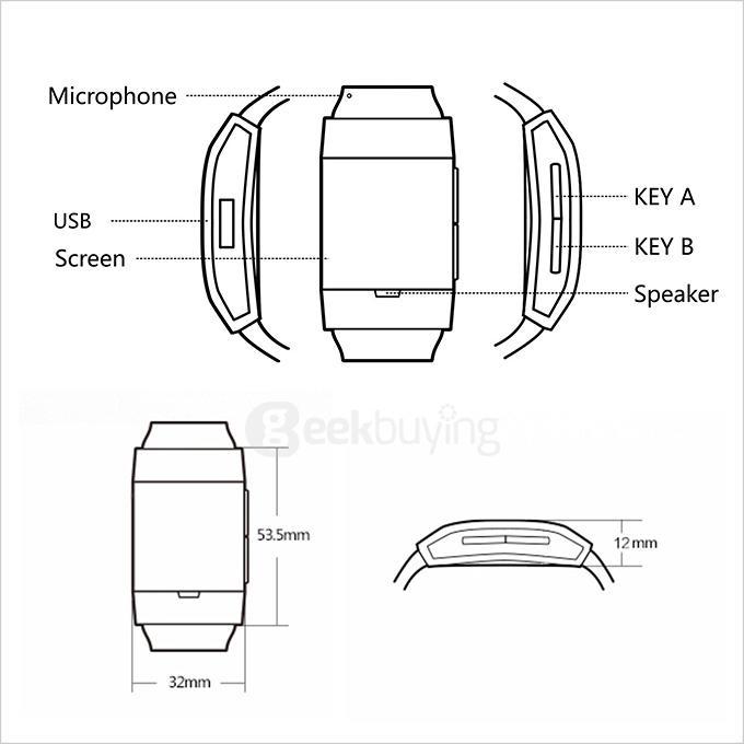 IL06 Smart Bluetooth Watch CSR Chip Dual Mic Multifunctions