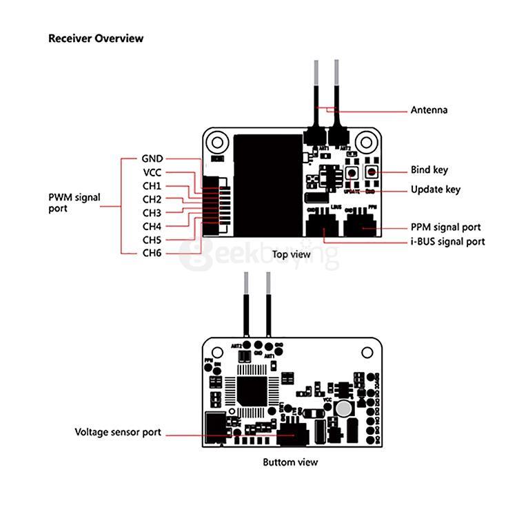 Flysky FS-i6X 2.4GHz 10CH AFHDS 2A RC Transmitter
