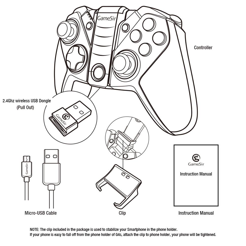 GameSir G4 Bluetooth 4.0 / 2.4G Wireless / Wired Game