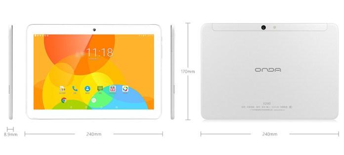 "Onda X20 4G Phablet MTK6797 Deca Core GPS 10.1"" IPS 2.5K Screen 2560*1600 Android 7.1 3GB DDR3L 32GB eMMC - White"
