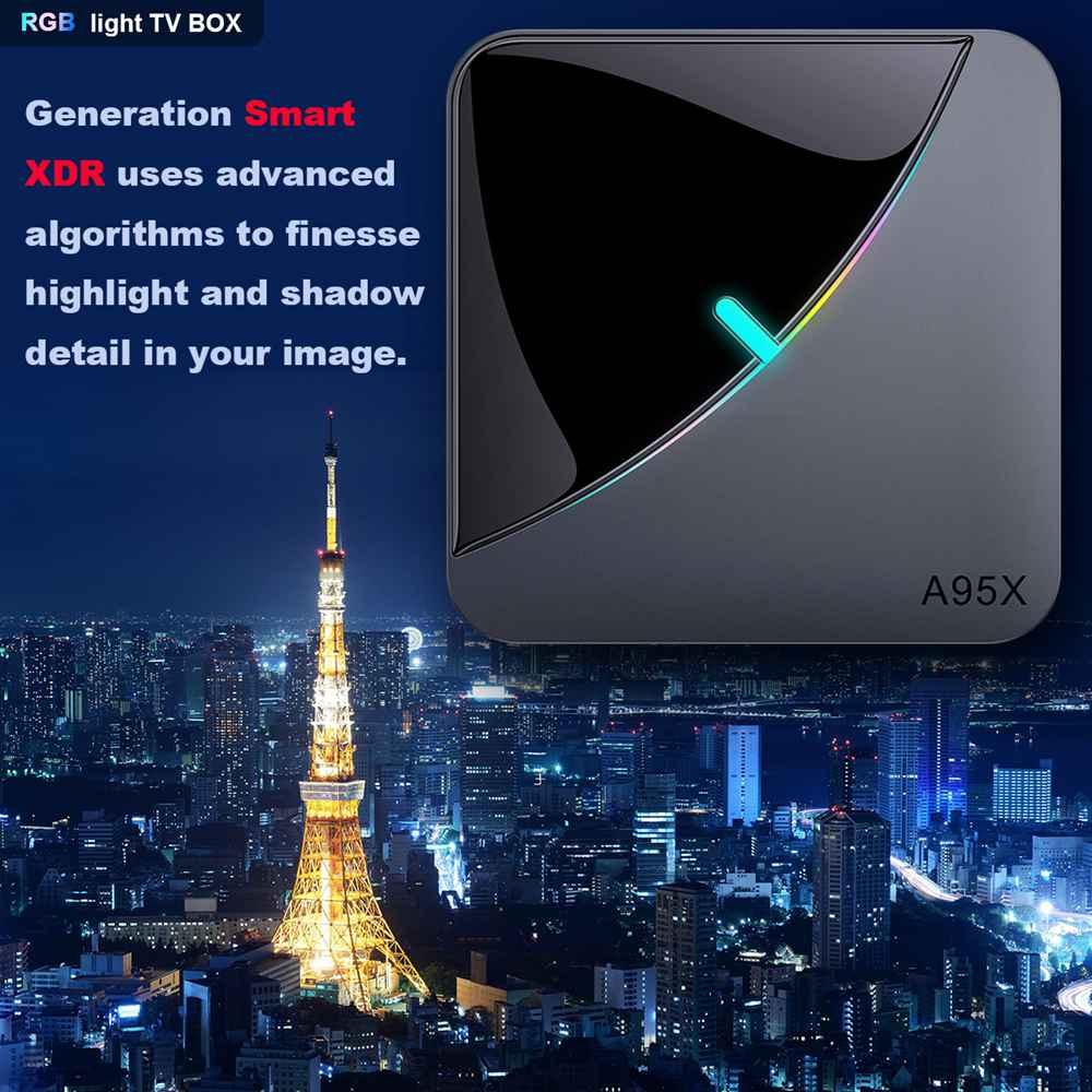 A95X F3 Amlogic S905x3 8K Video Decode Android 9.0 TV Box RGB Light 4GB/32GB 2.4G+5.8G WiFi Bluetooth LAN USB3.0 Youtube Netflix