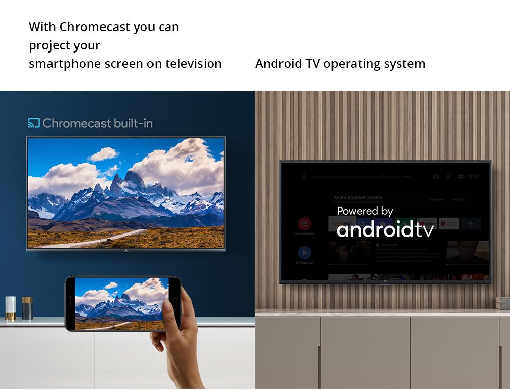 Xiaomi Mi TV 4A 32 '' DVB-T2 / C + Android 9.0 Dolby DTS HD Smart TV de voz a distancia de 1 GB / 8 GB Youtube Google Play Chromecast 2.4G / 5G WIFI HDMI * 3 * 2 USB - Negro