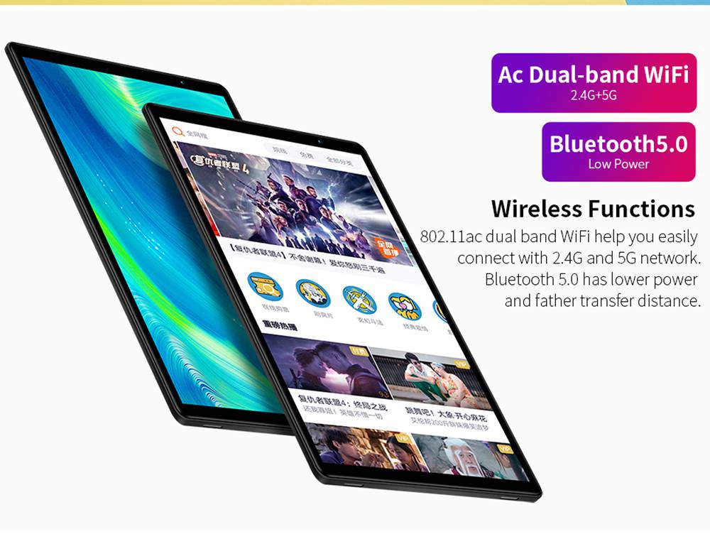 "Teclast P10s 4G Tablet Spreadtrum SC9863A Octa Core 10.1"" IPS Screen 1280*800 Android 9.0 2GB RAM 32GB ROM - Silver"