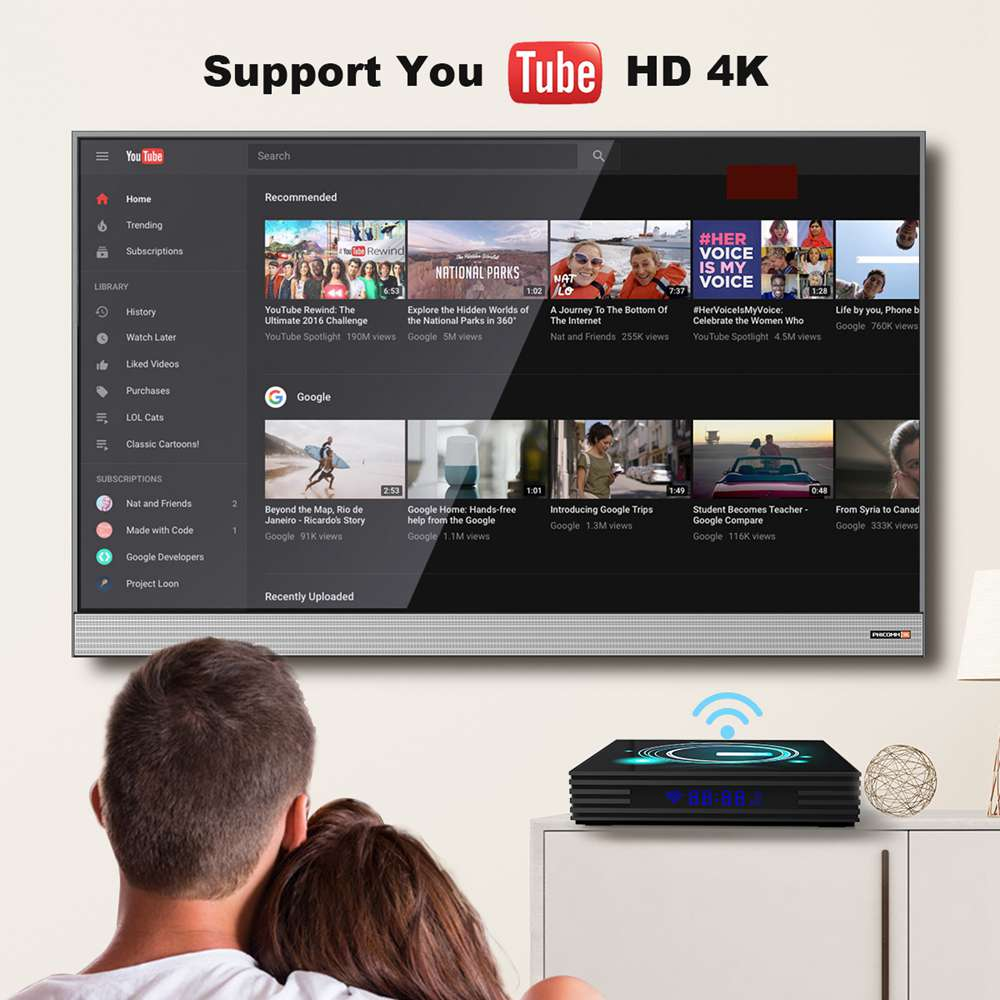 A95X F3 Slim Amlogic S905x3 Android 9.0 8K Video Decode TV Box 2G/16G USB3.0 2.4G+5G MIMO WiFi Bluetooth LAN 4K Youtube PLEX