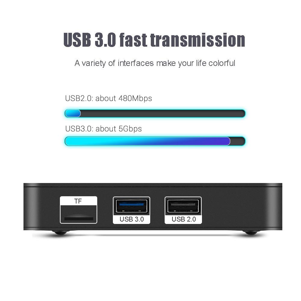 MECOOL K7 Android 9.0 DVB TV BOX DVB-S2/T2/C Amlogic S905X2 4GB LPDDR4 64GB EMMC 2.4G+5G WiFi 1000Mbps USB3.0 H.265