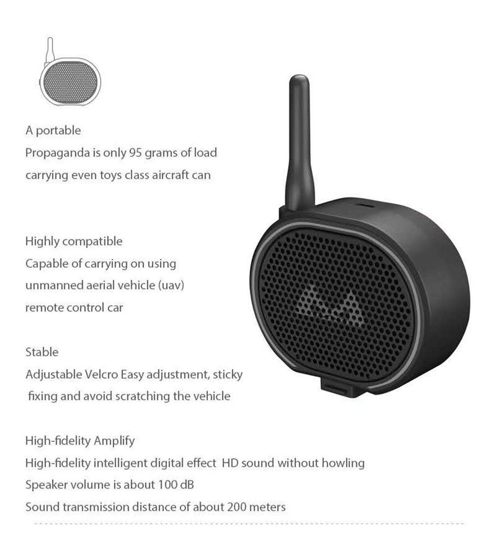 SMRC H1 Megaphone for RC Drone Black