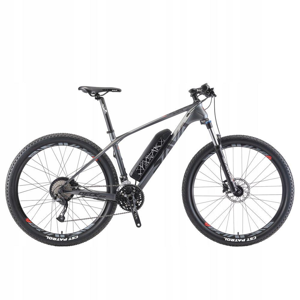 SAVA Knight 3.0 Carbon Fiber Electric Mountain Bike Gray