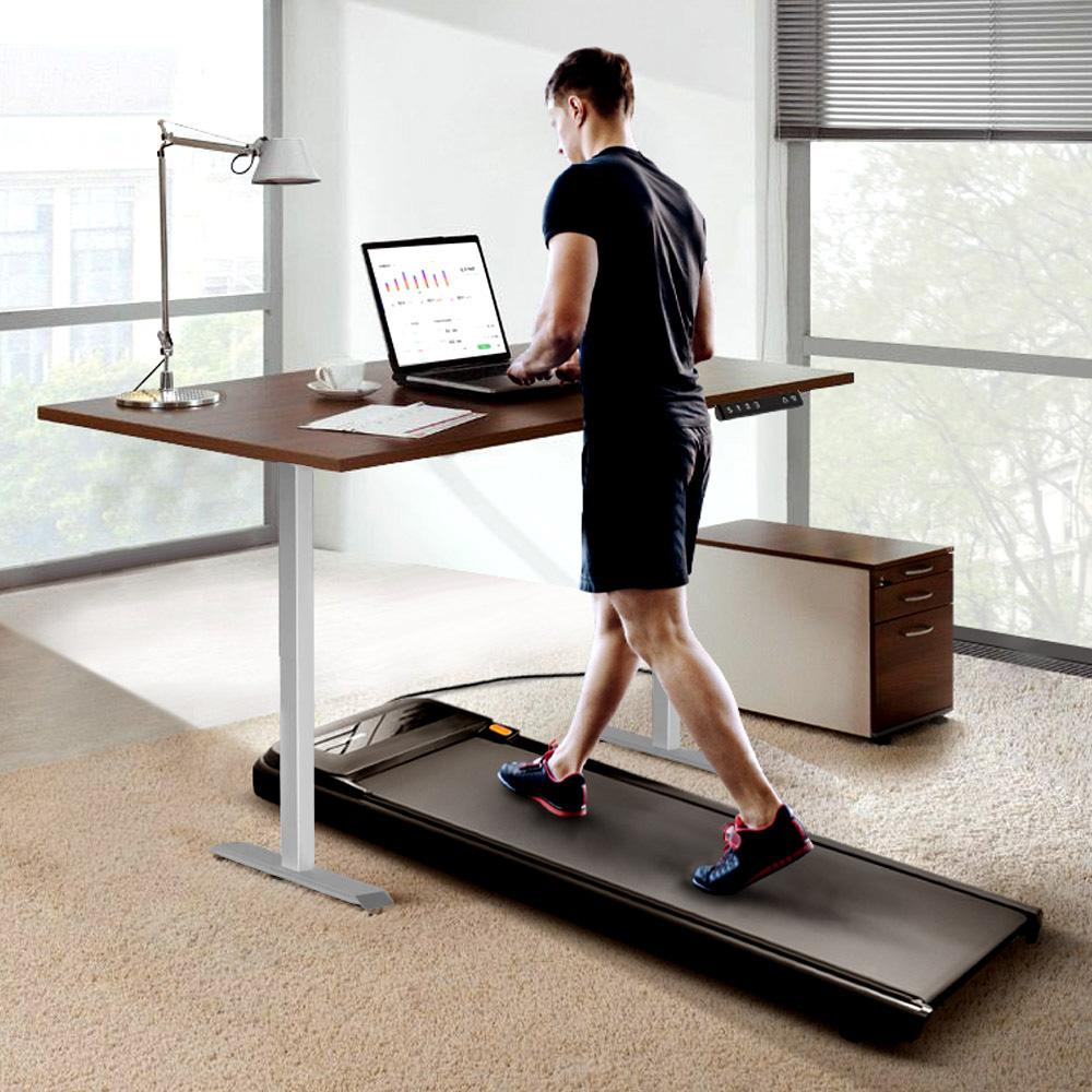walkingpad a1 pro tapis de marche smart tapis de course acgam cadre de bureau reglable en hauteur electrique gris