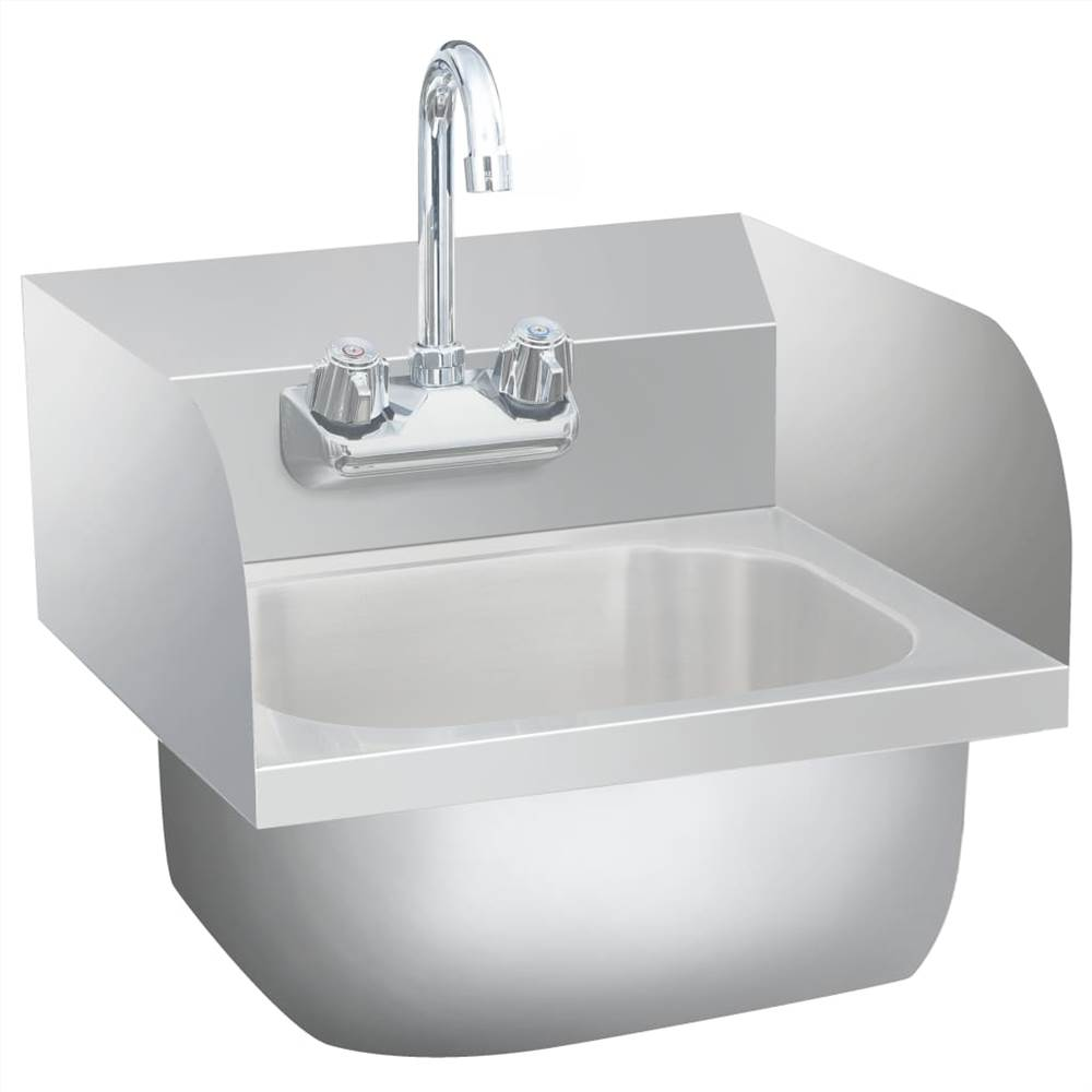 commercial hand wash sink with faucet stainless steel