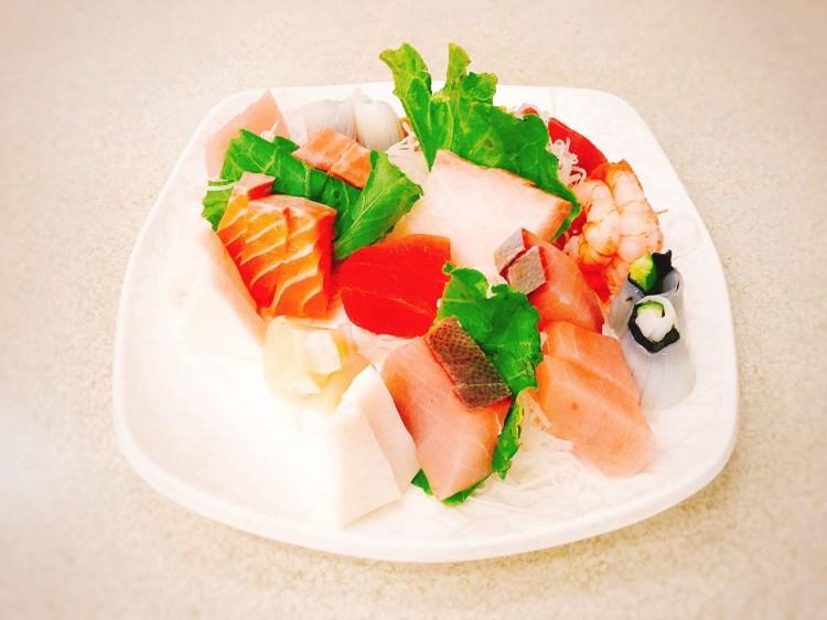 基隆海味海產店 》章記生魚片與生牛肉   KEELUNG SEAFOOD