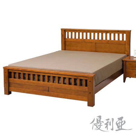 【優利亞-凱莉】加大6尺實木床架 -GOHAPPY快樂購物網
