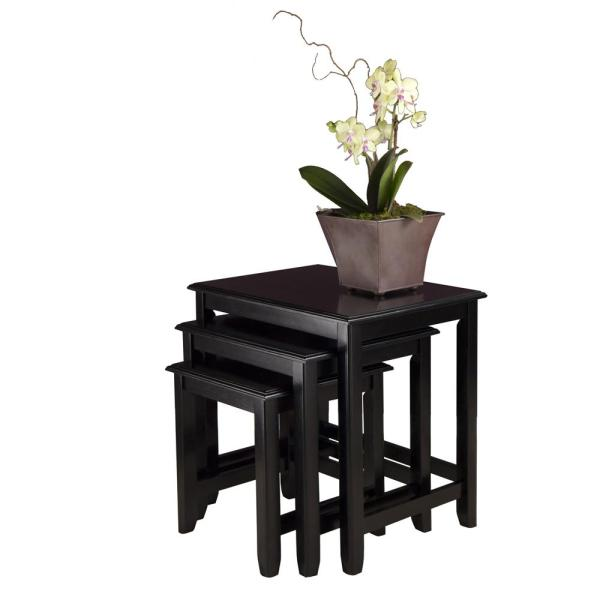Black Wood Nesting Tables