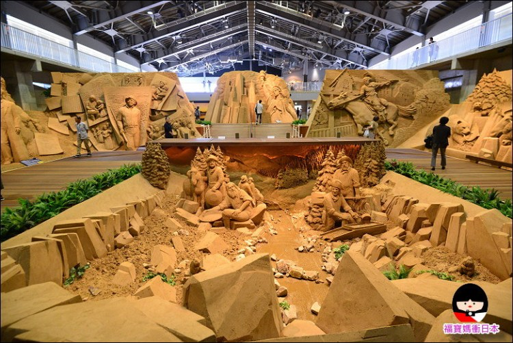【鳥取自由行】鳥取砂之美術館,世界唯一集合沙雕大師作品的展館(附交通方式、導覽APP教學)