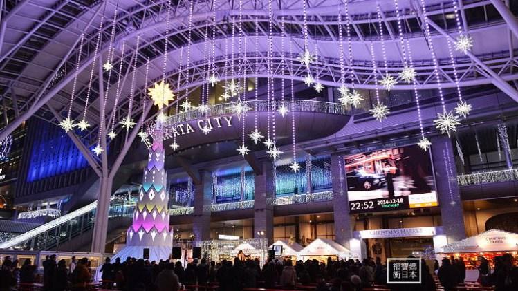 《 日本九州自助 》福岡博多車站~光之街聖誕燈火~ 感受九州濃濃聖誕氣氛去!