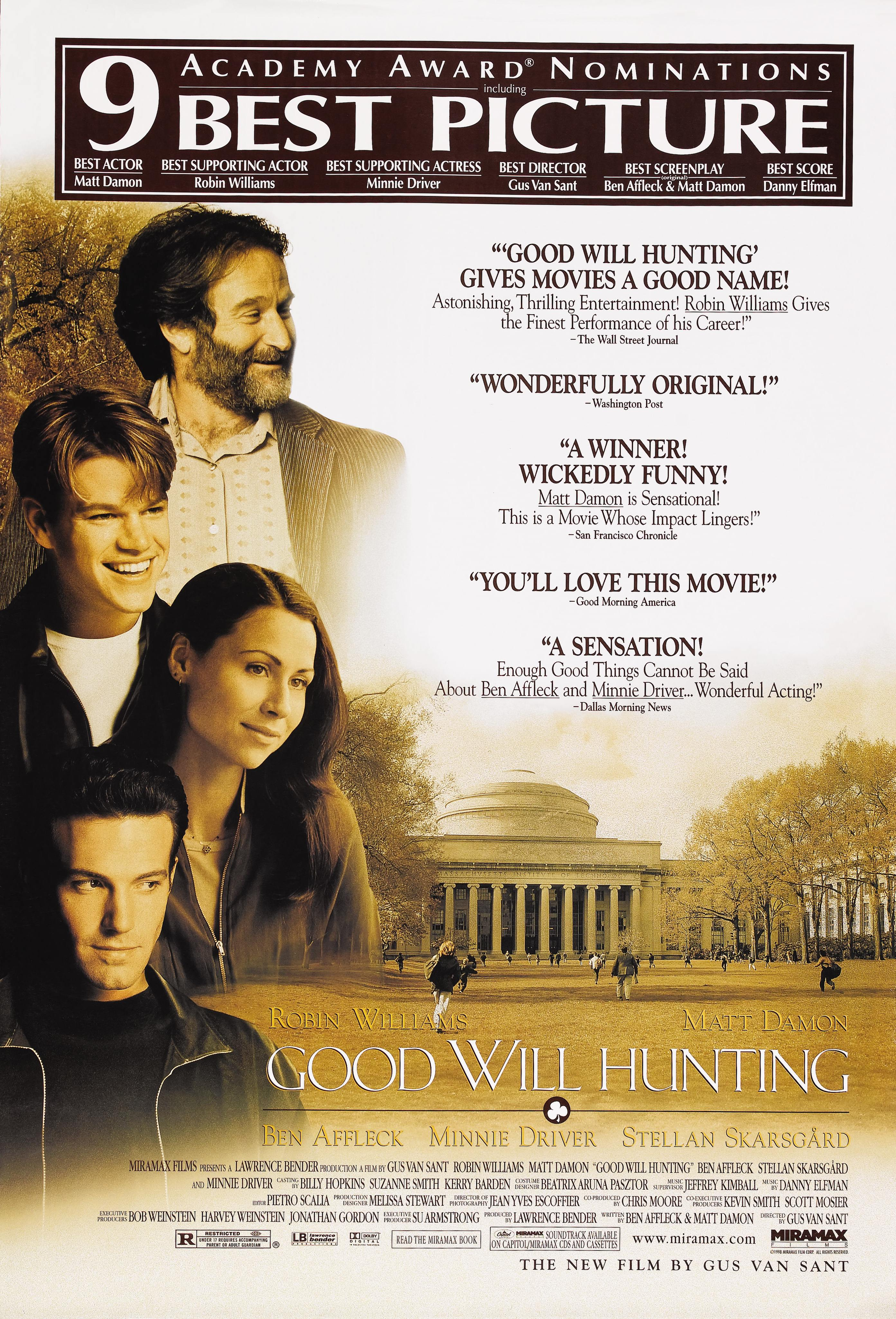 Good Will Hunting Poster 5: Mega Sized Movie Poster Image | GoldPoster