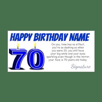 70th birthday card free printable