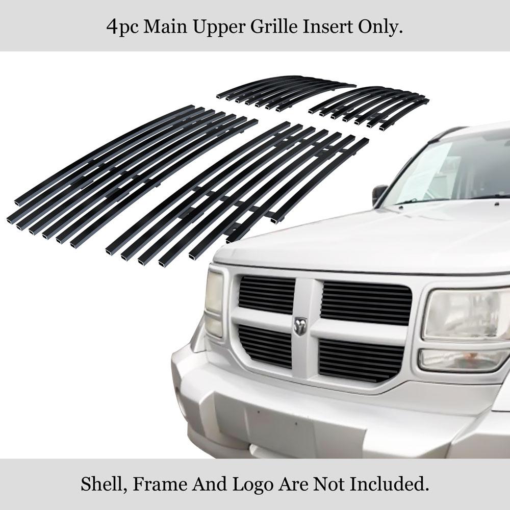 medium resolution of for 2007 2011 dodge nitro black stainless steel billet grille grill insert n19 j37466d