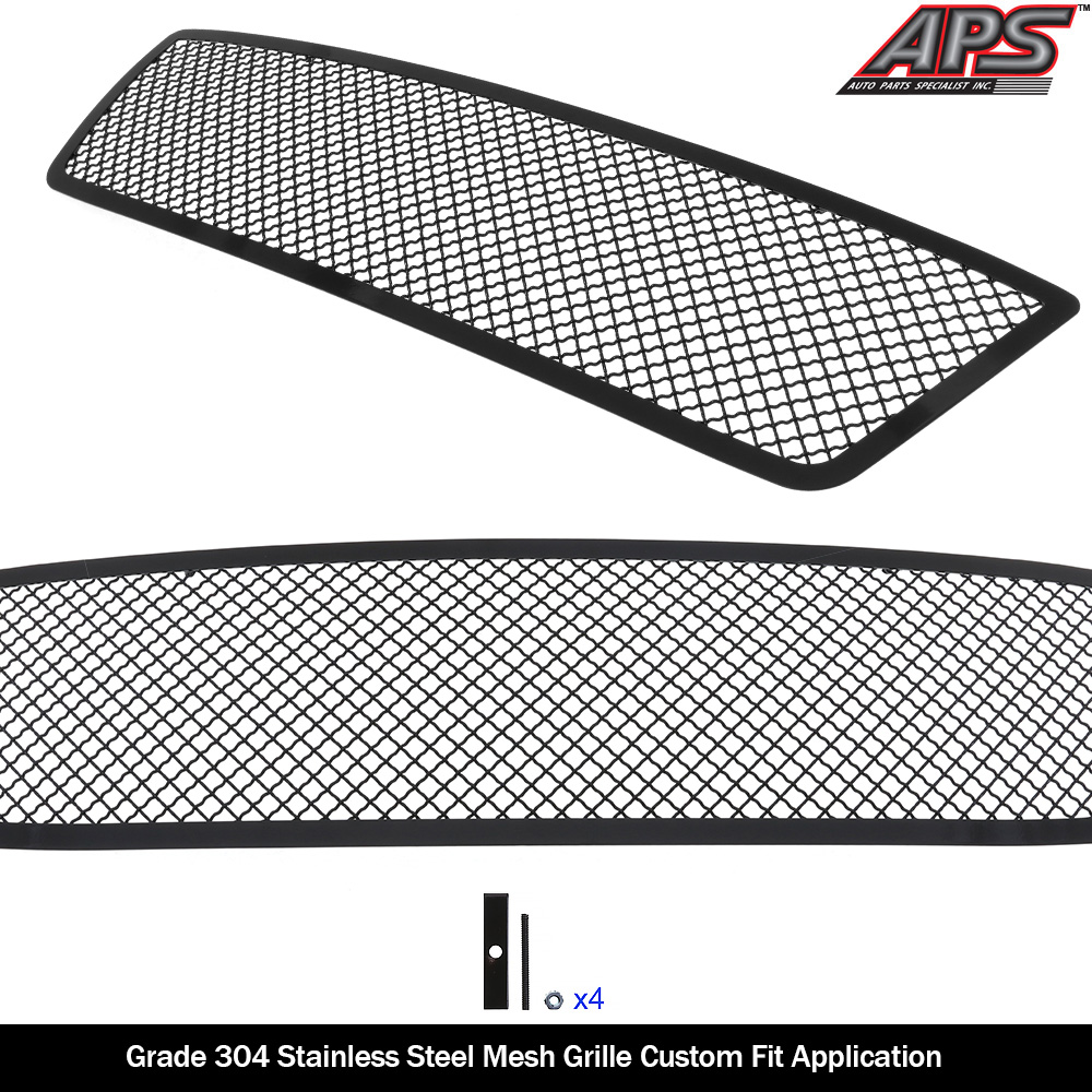 Fits 2004-2008 Ford F-150 Honeycomb Main Stainless Black