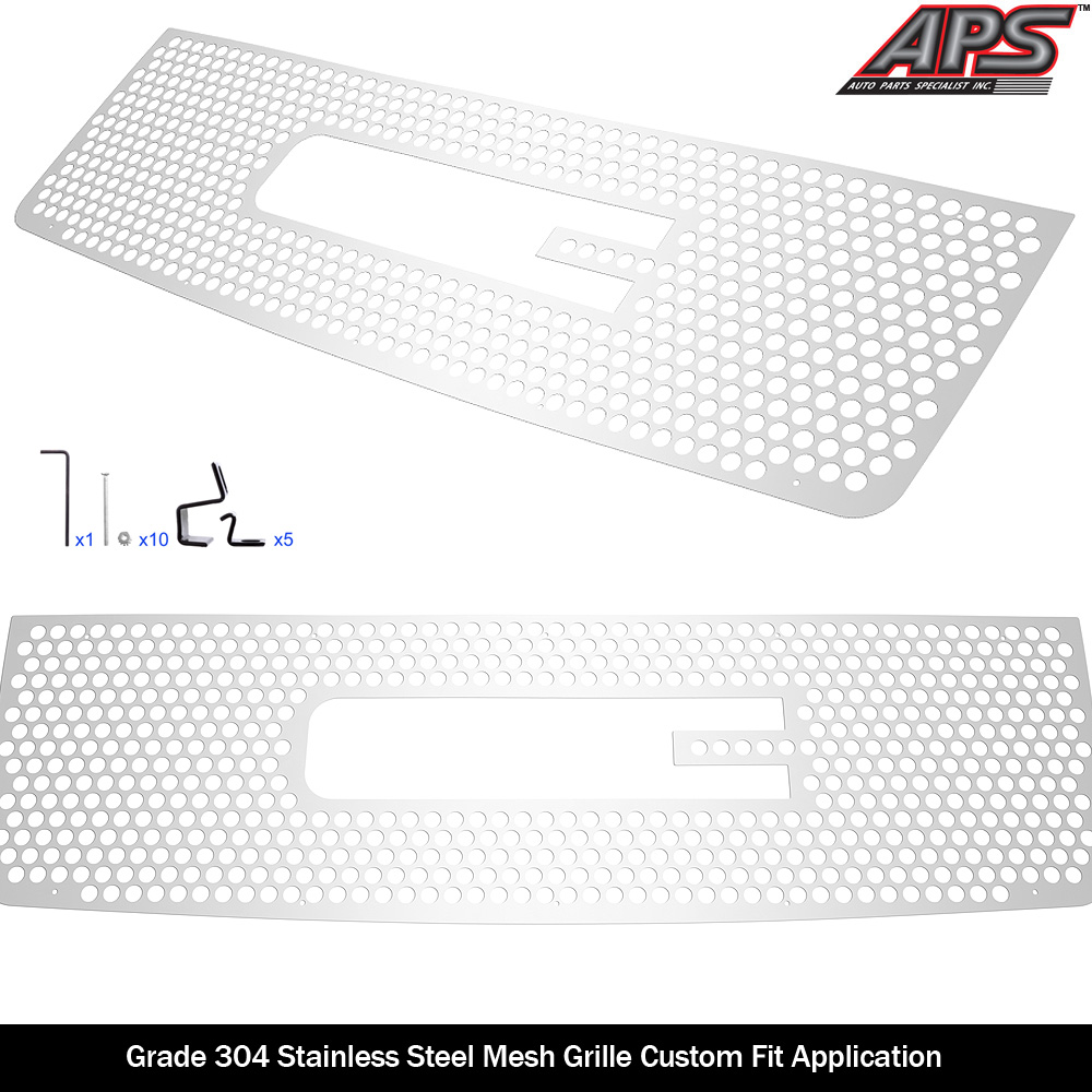 Fits 07-13 GMC Sierra 1500 With Logo Show Stainless Steel