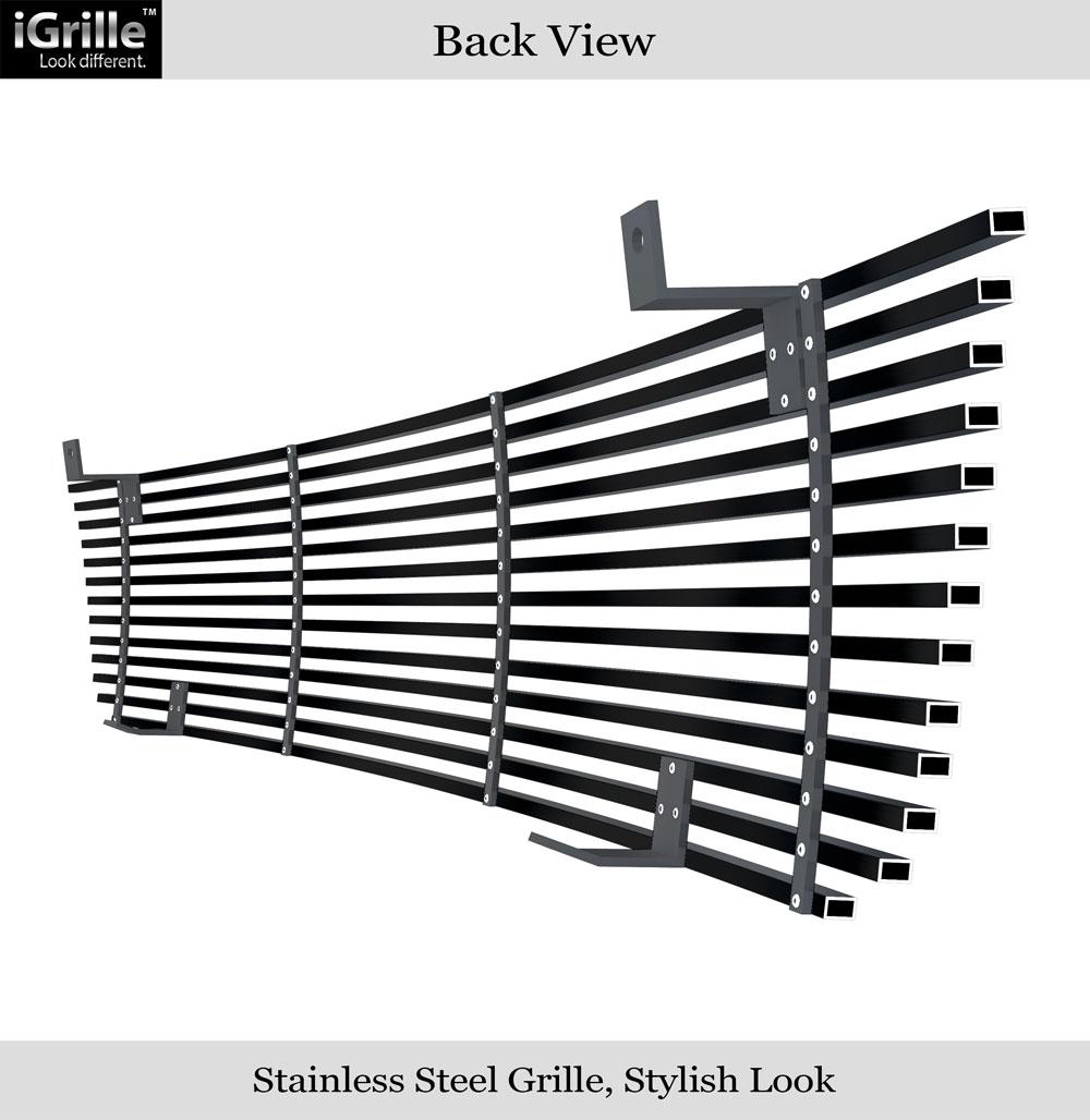 Fits 1993-1997 Ford Ranger Black Stainless Steel Billet