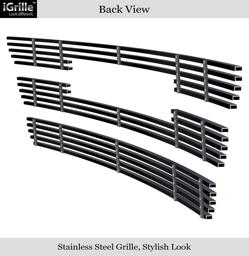 Fits 2010-2015 GMC Terrain Black Stainless Steel Billet