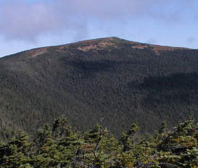 Mt Moosilauke As Viewed From The South Peak The Glencliff Trail Part Of The Appalachian Trail Can Be Seen Climbing The Ridge On The Left