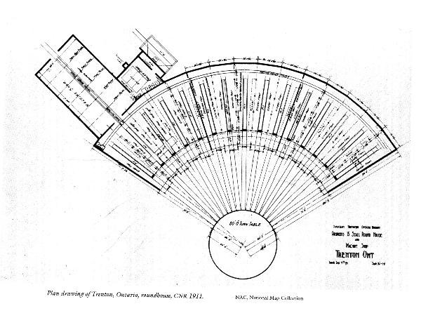 Plan for a sister roundhouse in Trenton ON.