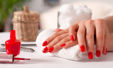 Polish for Hands and Feet, or Classic or Gel Manicure and Pedicure at Cutting Edge Ladies Salon (Up to 55% Off)