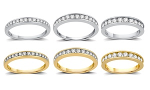 image for 1/4–1 CTTW Diamond Channel Wedding Band In 10K Gold By DeCarat