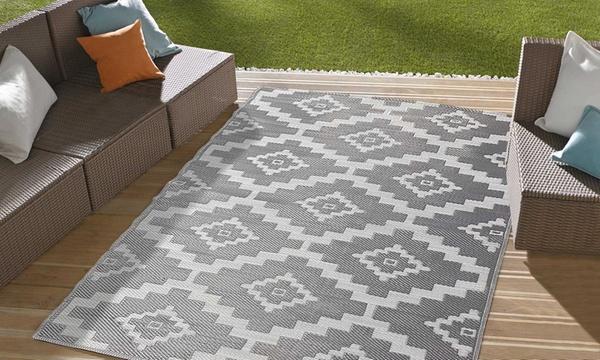 tapis exterieur tresse recto verso design scandinave