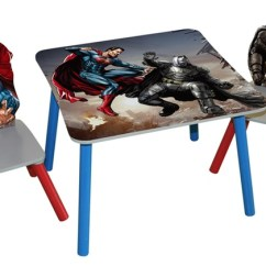 Batman Childrens Table And Chairs Leather Swing Chair Superhero Set 3 Piece Groupon Goods Product Details