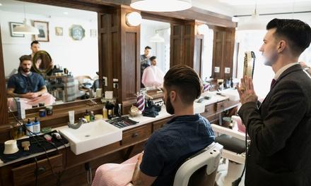Pacchetto hairstyle per uomo con shampoo, taglio capelli e barba più piega al salone CR Parrucchiere (sconto fino a 69%)