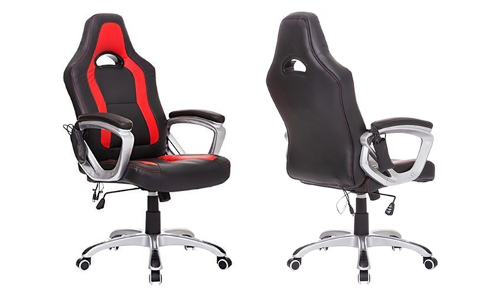 desk chair groupon kid bean bag chairs canada up to 45 off on high back race car massage goods