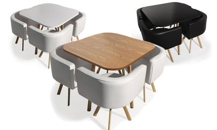 table et chaises encastrables scandinaves coloris au choix a 249 90 50 de reduction